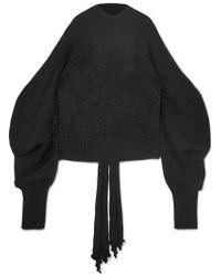 16Arlington - Cold-shoulder Knitted Turtleneck Sweater - Lyst
