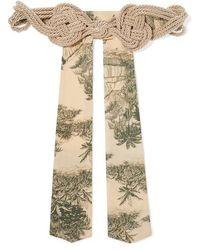 Johanna Ortiz Ritmos Del Sur Silk Rope And Crepe Belt - Multicolour