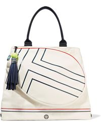 Tory Sport - Leather-trimmed Coated-canvas Tennis Tote - Lyst