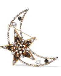 Erickson Beamon | American Graffiti Gold-plated Swarovski Crystal Brooch | Lyst