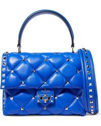 Valentino - Garavani Candystud Quilted Leather Shoulder Bag - Lyst