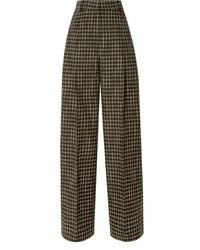 Beaufille Valli Checked Twill Straight-leg Pants - Green