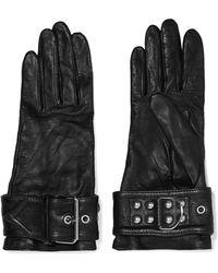 Balenciaga - Buckled Leather Gloves - Lyst
