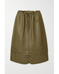 Dodo Bar Or Piki Quilted Leather Skirt - Green