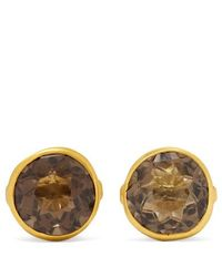 04080678b Pippa Small 18-karat Gold Quartz Earrings