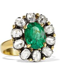 Amrapali - 18-karat Gold, Diamond And Emerald Ring - Lyst