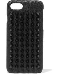 Christian Louboutin | Loubiphone Spiked Textured-leather Iphone 7 Case | Lyst