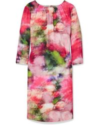 Adam Lippes Mini-robe En Crêpe Lavé À Imprimé Fleuri - Rose