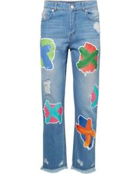House of Holland - Printed Boyfriend Jeans - Lyst