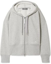adidas By Stella McCartney - Essentials Organic Cotton-blend Fleece Hooded Top - Lyst