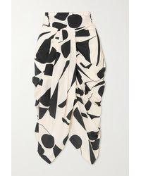 Isabel Marant - Betina Gathered Printed Silk-blend Skirt - Lyst