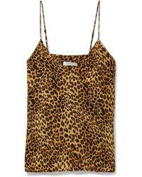 Anine Bing - Gwyneth Leopard-print Washed-silk Camisole - Lyst