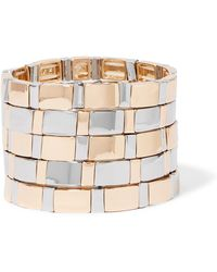 Roxanne Assoulin - Gold Standard Set Of Five Silver And Gold-tone Bracelets Gold One Size - Lyst