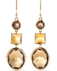 Ippolita - Rock Candy 18-karat Gold, Citrine And Quartz Earrings - Lyst