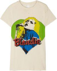MadeWorn - Blondie Distressed Printed Cotton-jersey T-shirt - Lyst