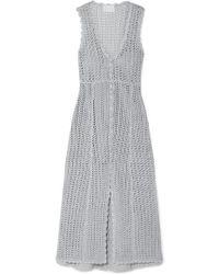 Alice McCALL Magic Metallic Open-knit Midi Dress - Gray