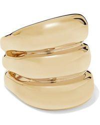 Jennifer Fisher Triple Tube Gold-plated Ring - Metallic