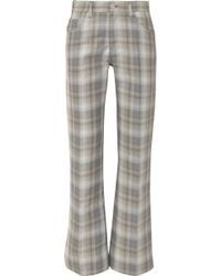 MM6 by Maison Martin Margiela - Checked Cotton-blend Straight-leg Pants - Lyst