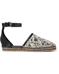 Isabel Marant - Carlyce Printed Canvas And Leather Espadrilles - Lyst
