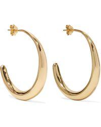 Dinosaur Designs | Louise Olsen Large Liquid Gold-plated Hoop Earrings | Lyst