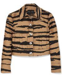 Proenza Schouler - Tiger-print Wool And Silk-blend Jacquard Jacket - Lyst