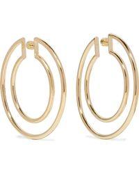 Jennifer Fisher - Double Hoop Gold-plated Hoop Earrings Gold One Size - Lyst