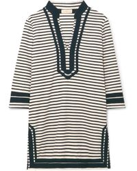 Tory Burch - Striped Cotton-blend Terry Tunic - Lyst