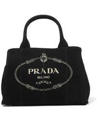 Lyst - Prada Large Giardiniera Tote Bag in Natural cfe9caac9c