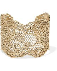 Aurelie Bidermann - Lace Gold-plated Cuff - Lyst