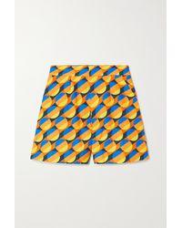 La DoubleJ Good Butt Printed Cotton-blend Shorts - Orange