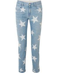Stella McCartney - Printed Boyfriend Jeans - Lyst