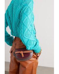Loewe Gate Mini Schultertasche Aus Leder In Colour-block-optik - Mehrfarbig