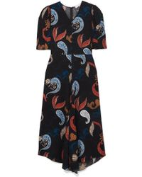 See By Chloé Paisley-print Crepe Midi Dress - Blue