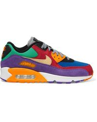 Air Max 90 Qs Suede And Canvas Trainers Red