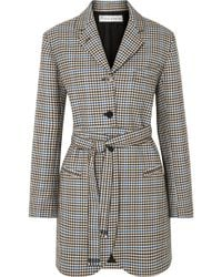 JW Anderson - Belted Houndstooth Wool And Cotton-blend Blazer - Lyst