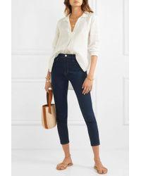 FRAME Ali Hoch Sitzende Skinny Jeans - Blau