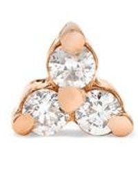 Maria Tash Tiny Ohrring Aus 14 Karat Roségold Mit Diamanten - Mehrfarbig