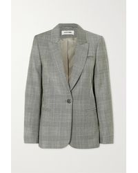 Cefinn Jamie Prince Of Wales Checked Wool Blazer - Grey