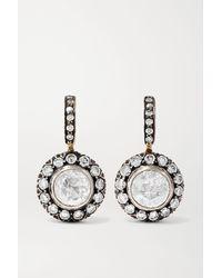 Amrapali 18-karat Gold And Sterling Silver Diamond Earrings - Metallic