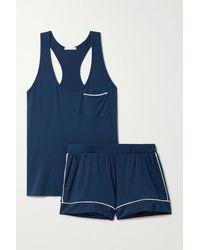 Eberjey Gisele Stretch-modal Pyjama Set - Blue