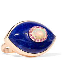 Marlo Laz - Iris 14-karat Rose Gold Multi-stone Ring Rose Gold 7 - Lyst