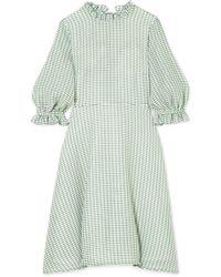 Rejina Pyo Mini-robe En Tissu Vichy Rachel - Vert