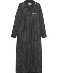 DKNY - The Match Up Printed Washed-satin Nightdress - Lyst