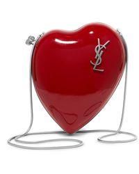 Saint Laurent | Love Box Patent-leather Shoulder Bag | Lyst