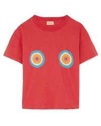 LHD Printed Cotton-jersey T-shirt - Red