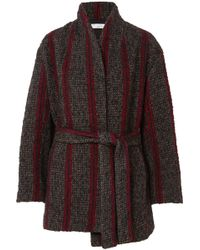 IRO - Circus Belted Striped Wool-blend Coat - Lyst
