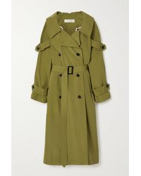 Nina Ricci Canvas Trench Coat - Green