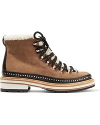 Rag & Bone - Compass Shearling And Leather-trimmed Suede Ankle Boots - Lyst