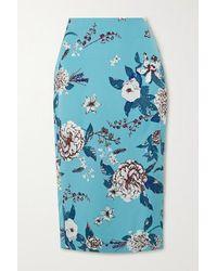 Diane von Furstenberg Kara Silk-cady Pencil Skirt - Blue