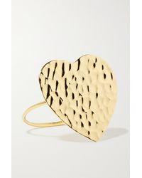 Jennifer Meyer Hammered 18-karat Gold Ring - Metallic